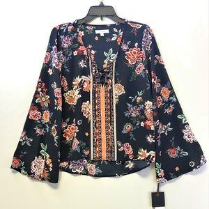 NWT Takara Floral Print Blouse